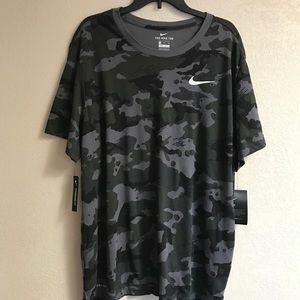 Nike Gray Camouflage Dri-fit Tshirt